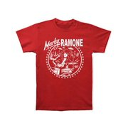 c96585dc Ramones Men's Red Drums Icon Logo Slim Fit T-shirt Red