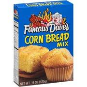 (4 Pack) Famous Dave's Corn Bread Mix 15 oz Box