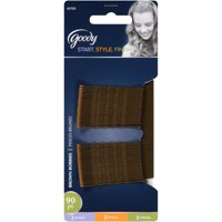 Goody Bobby Pins, Brown Hair Pins, Secure Hold, 90 Ct