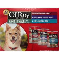 Ol' Roy Classic Variety Pack Wet Dog Food Cuts in Gravy, Lamb & Rice, Bacon Cheeseburger, Country Stew, 13.2 oz, 12 Count