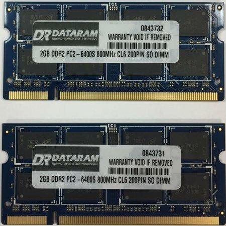 4GB (2X2GB) DDR2  MEMORY FOR  Toshiba Satellite Pro U500-18U