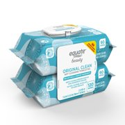 Equate Beauty Original Clean Wet Cleansing Towelettes, 120 Count, 2 Pack