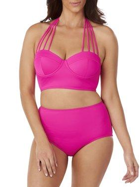 Women's Convertible Strap Bralette Swimsuit Top