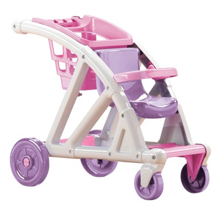 American Plastic Toys Shop With Me Doll Stroller with Shopping