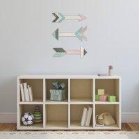 Better Homes and Gardens 3-Piece Wooden Arrow Wall Art Set, Pink and Aqua