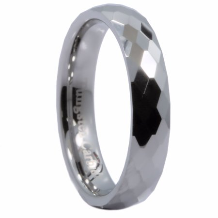 4MM Honeycomb Ring With Diamond Shaped Pattern Tungsten Carbide Wedding