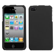 16b64344c4622c Insten Black Protector Case Cover(Rubberized) For iPhone 4 4S