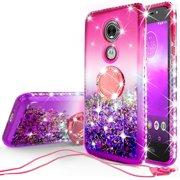 Glitter Phone Case Kickstand Compatible for Moto E5 Cruise Case cad1cadfec