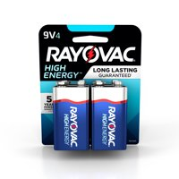 Rayovac High Energy Alkaline, 9V Batteries, 4 Count