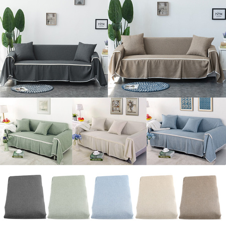 WALFRONT Couch Cover Slipcover Comfortable Sofa Couch Cover Chair Throw Mat Furniture Protector Slipcover for 1 2 3 4 Cushions Sofa Sofa Cover