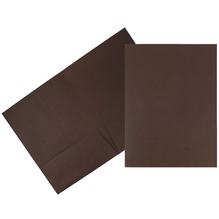 - JAM Paper Premium Paper Cardstock Two Pocket Presentation Folder, Chocolate Brown Linen, 6/pack