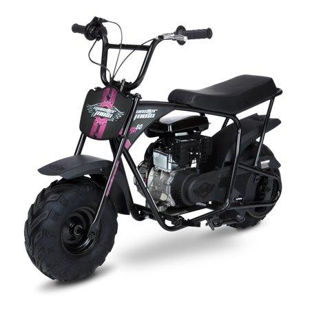 Mega Moto 80cc Mini Bike- Black with Red & Pink -