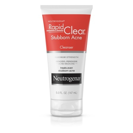 Neutrogena Rapid Clear Stubborn Daily Acne Facial Cleanser, 5 fl. (Best Drugstore Acne Products)