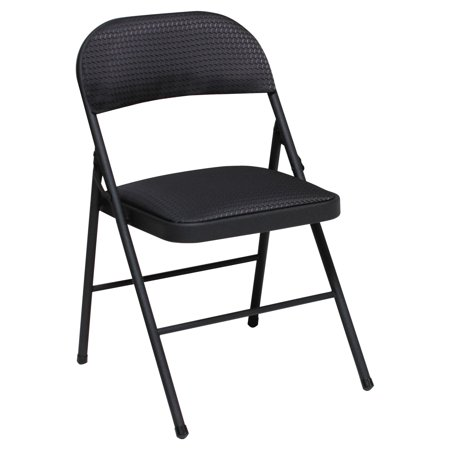 Cosco Deluxe Metal and Fabric Folding Chair, Set of (Fabric Steel Folding Chair)
