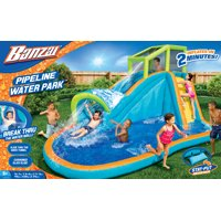 Banzai Pipeline Water Park (Inflatable Water Slide with Pool for Backyard Aqua Sports)