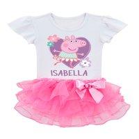 Personalized Peppa Pig Toddler Girls' Ballerina Tutu T-Shirt
