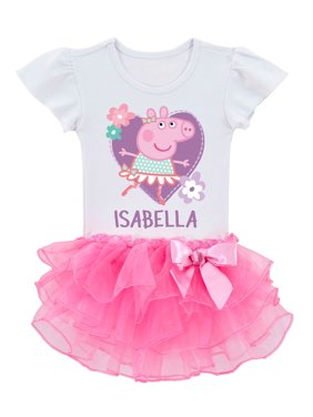 Personalized Peppa Pig Toddler Girls' Ballerina Tutu T-Shirt