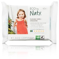 Naty, ECO by Naty Baby Wipes, Flushable (42 count)