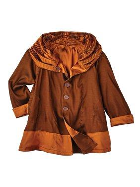 Lindi Women's Reversible Rain Coat - Iridescent Hooded Rain Jacket