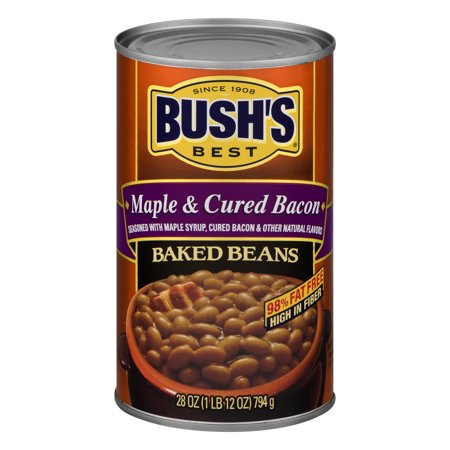 (6 Pack) Bush's Best Maple Cured Baked Beans, 28 (The Best Baked Beans On The Planet)