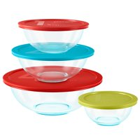 Pyrex Glass Mixing Bowl Set, 8 Piece