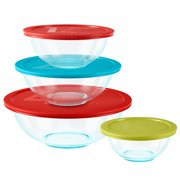 Pyrex Glass 8-Piece Mixing Bowl Set