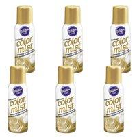 (6 Pack) Wilton Gold Color Mist Shimmering Food Color Spray, 1.5 oz