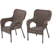Better Homes and Gardens Camrose Farmhouse Mix and Match Stacking Wicker Chairs, Set of 2