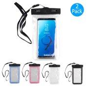 Waterproof Phone Pouch, EEEKit 2-Pack Universal Cellphone Dry Bag Waterproof Cellphone Pouch Case