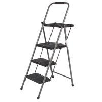 Best Choice Products 3 Step Ladder Platform Lightweight Folding Stool 330 LBS Cap Space Saving w/Tray