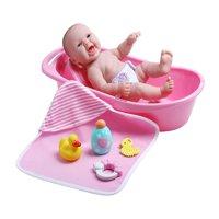 "JC Toys 13"" All-Vinyl La Newborn Realistic Baby Doll, Bath Time Fun Gift Set - Perfect for Children 2+"