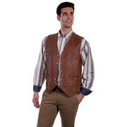 64aa9d0c Scully Western Vest Mens Five Snap Leather Single Point Yoke 507