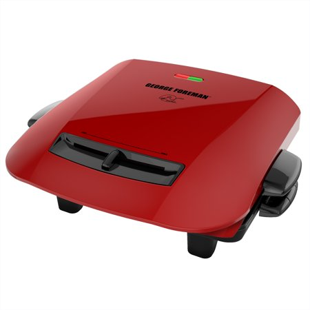 George Foreman 5-Serving Removable Plate Grill and Panini Press, Red, GRP2841R ()