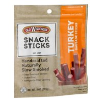 (3 Pack) Old Wisconsin Turkey Sausage Snack Sticks 8 oz. Pouch