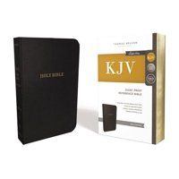 KJV, Reference Bible, Giant Print, Leather-Look, Black, Red Letter Edition