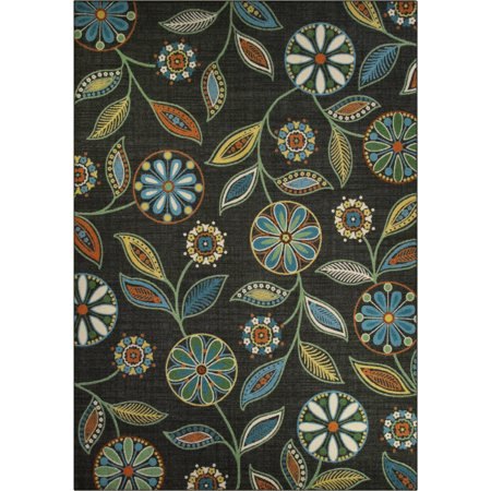 Mainstays Minerva Multicolor Nylon Textured Print Area Rug or Runner
