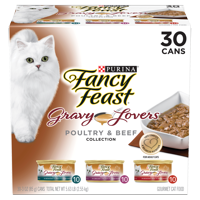 Fancy Feast Gravy Lovers Poultry & Beef Feast Collection Wet Cat Food Variety Pack - (30) 3 oz. Cans