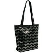 36540f2fe514 1PerfectChoice Girls Sequin Chevron Shoulder Dance Tote Bag (Black & Silver)