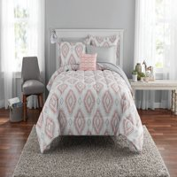 Mainstays Double Diamond Bed in a Bag Coordinating Bedding Set