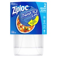 Ziploc Twist'n Loc Round Container Medium 4 Cup, 2 count