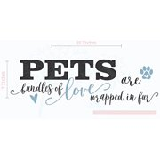 e99a8664be59 Pets are Bundles of Love Wall Decor Vinyl Decals Animal Paw Stickers Quotes,  23x7-