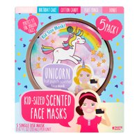 Taste Beauty Scented Face Masks for Kids, 5 Pieces