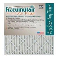 Accumulair Platinum MERV 11 Air Filter/Furnace Filters (6 pack)