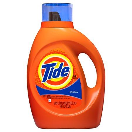 Life Tree Original Premium Laundry (Tide Original Scent Liquid Laundry Detergent, 64 loads, 2.95 L)
