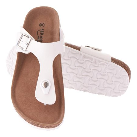 - Seranoma Thong Sandal For Women – Platform Slide Sandals With Cork Wedge Sole And Microfiber Insole, Buckle Closure, Easy Slip On, Comfortable Design For Spring And Summer, Boho Style