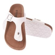 88211d24363d Seranoma Thong Sandal For Women – Platform Slide Sandals With Cork Wedge  Sole And Microfiber Insole