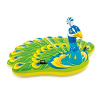 Intex Giant Inflatable Colorful Peacock Island Ride On Swimming Pool Float Raft