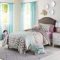 Better Homes and Gardens Kids Elephant Stripe Bedding Quilt Set