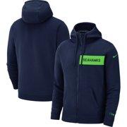 Seattle Seahawks Nike Fan Gear Club Full-Zip Hoodie - College Navy bad768ece