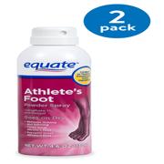 (2 Pack) Equate Athlete's Foot Powder Spray, 4.6 oz